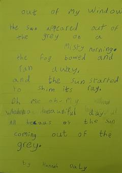 File óg  i Rang 1 - Young Poet i Scoil Gharbháin