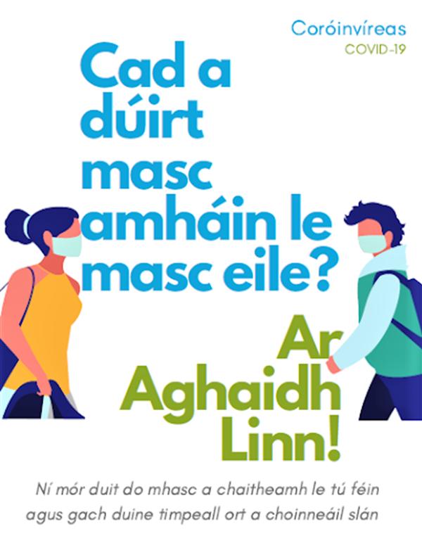 Ar Aghaidh Linn ag Foghlaim sa mBaile. On we go Learning at Home.